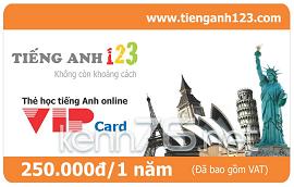 Share Acc VIP tienganh123 mới nhất 2015
