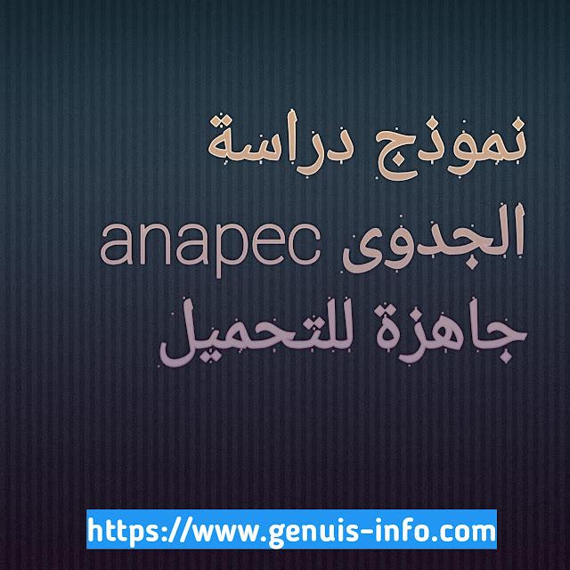 Modèle d'étude de faisabilité Anapec prêt à télécharger