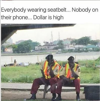 Hilarious picture: Bad business for FRSC officials