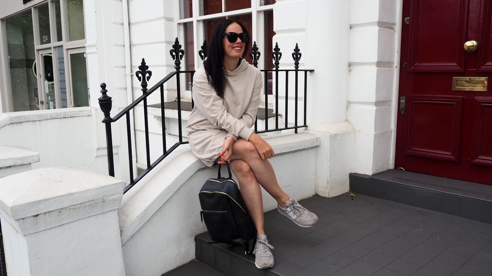 Oatmeal hoodie dress