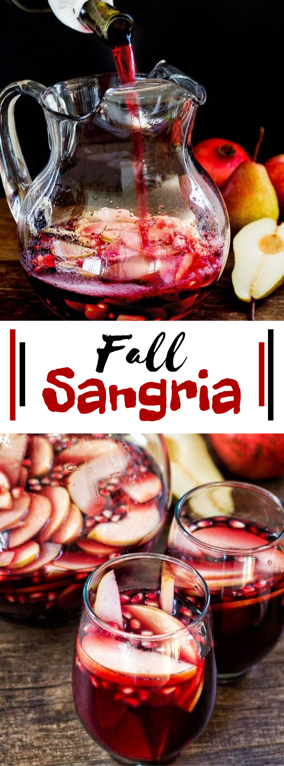 Fall Sangria #drinks #cocktails