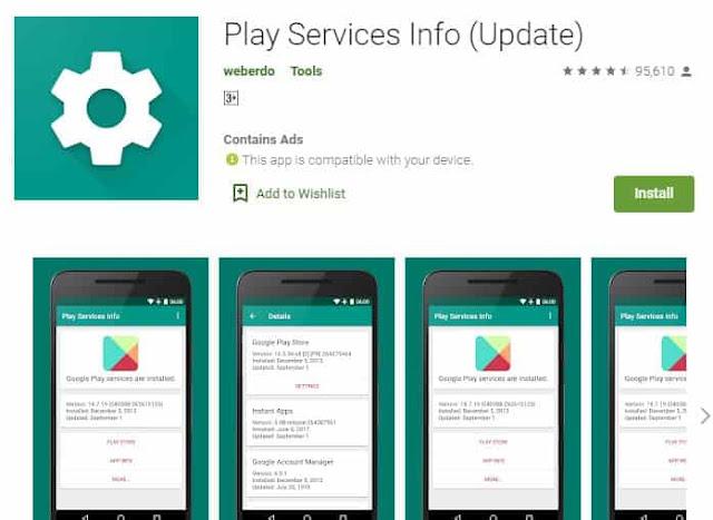 cara memperbarui google play service