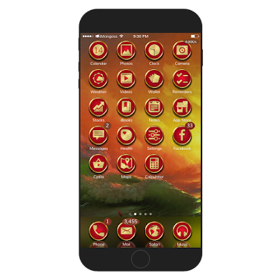 UltimateS6 iOS 9 is a beautiful theme which contains more than 820 awesome icons with unique style, docks, badges and nice anemone icons effects.