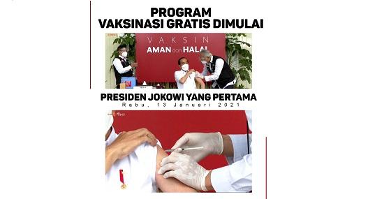 Jokowi Suntik Vaksin