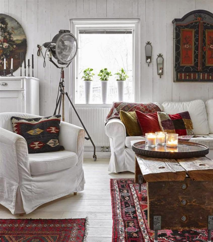 Go East For Boho Inspired Home Decor: Bohemian Style Country House In Sweden