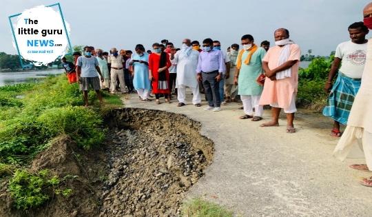 बाढ़ प्रभावित क्षेत्रों का मंत्री ने लिया जायजा, शुरू होगा सामुदायिक किचेन