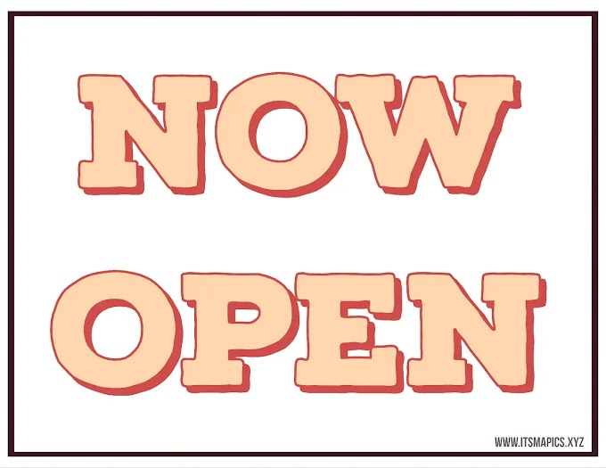 Printable Now Open Sign - We are Open Sign