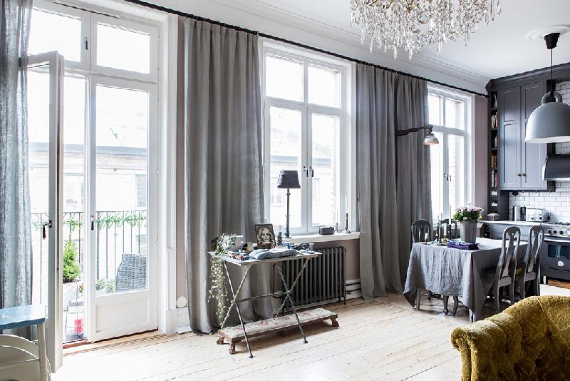 Arredare piccoli spazi 58 mq di pura eleganza a Goteborg soggiorno