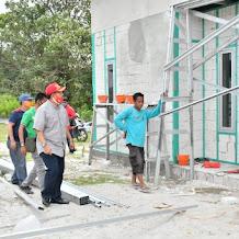 Pastikan Pekerjaan Tanpa Kendala, Iqbal Tinjau Pembangunan Huntap di Kelurahan Bone Tua