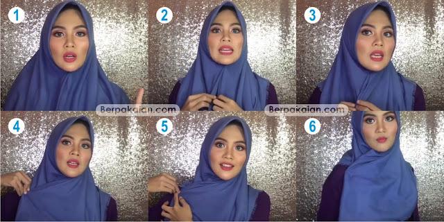 Style Kedua Tutorial Hijab Segi Empat Ala Ria Ricis (Terbaru 2019)