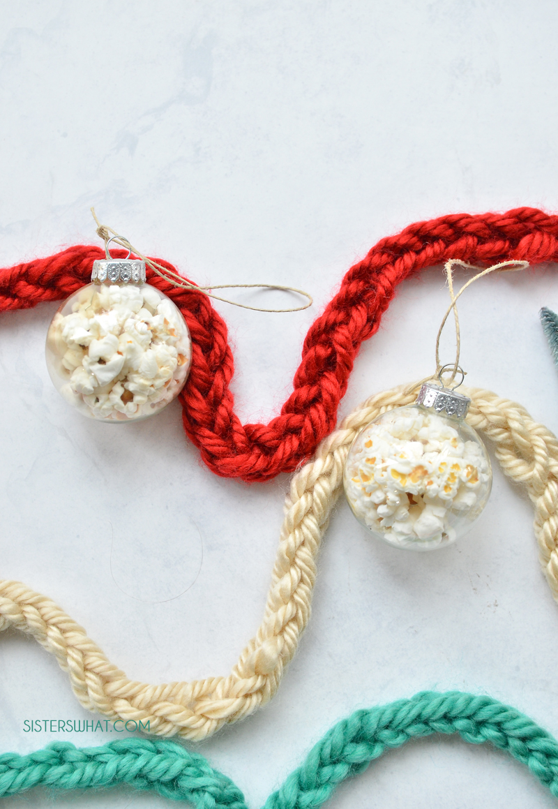 easy finger knitted christmas decor