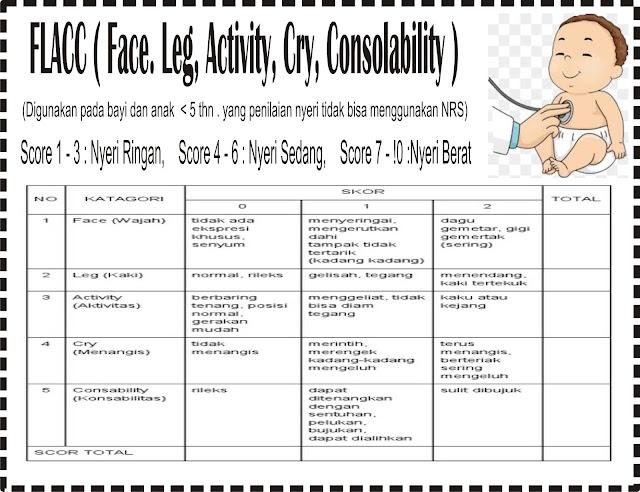 Kriteria Penialan Nyeri pada Anak < 5 tahun FLACC (Face leg Cry Consolability