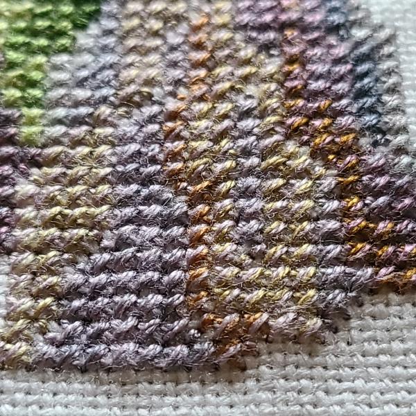 Cross stitch close up | DevotedQuilter.com