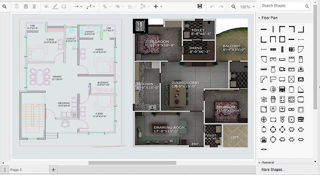 Draw floor plans on computer