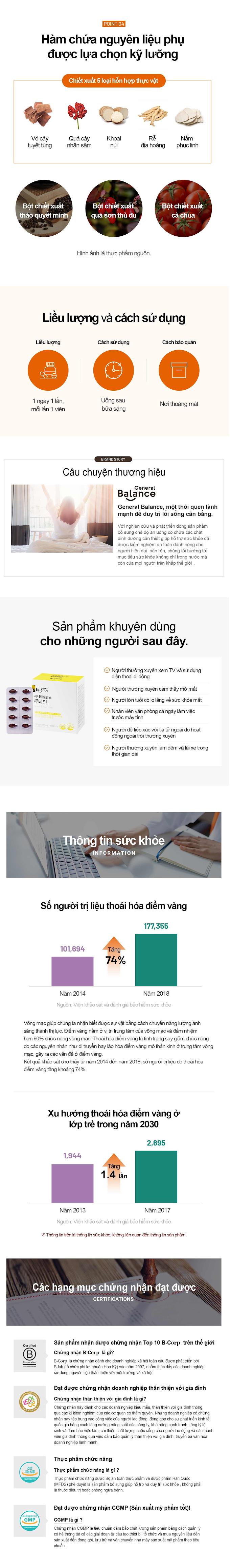Thuc pham bao ve suc khoe: General Balance Lutein