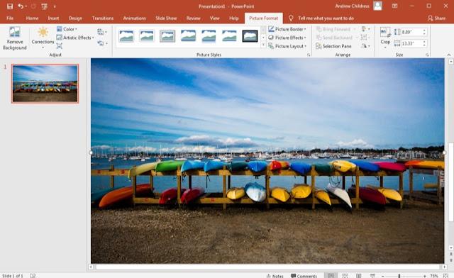 image-on-slide