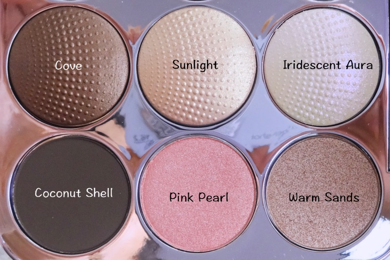 Becca Pearl Glow Eye Palette swatches