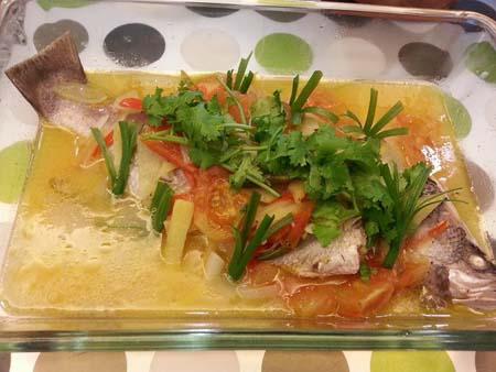 Resepi Ikan Siakap Stim Limau Sedap, Simple & Terbaek (SbS)   Aneka Resepi Masakan