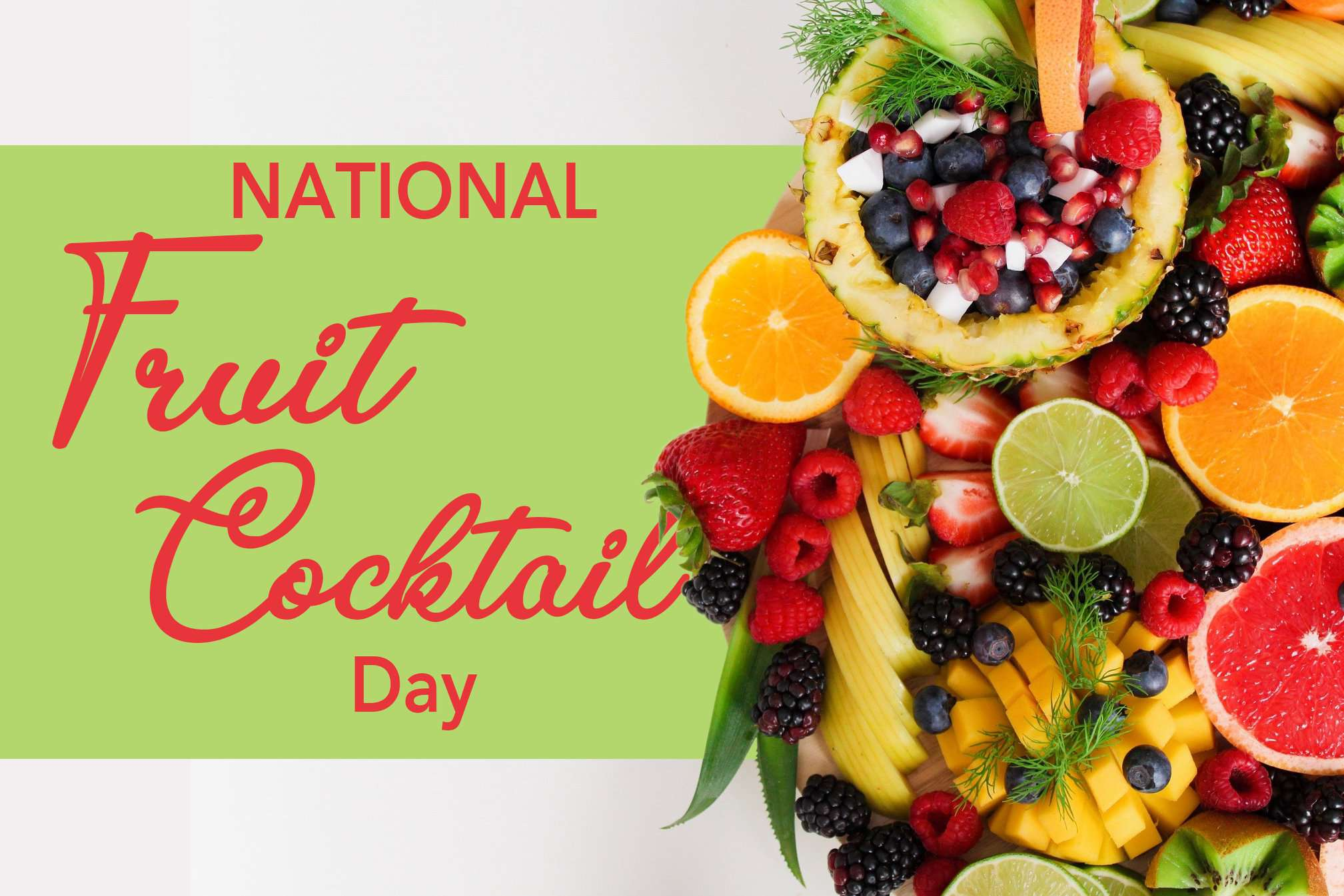 National Fruit Cocktail Day Wishes Photos