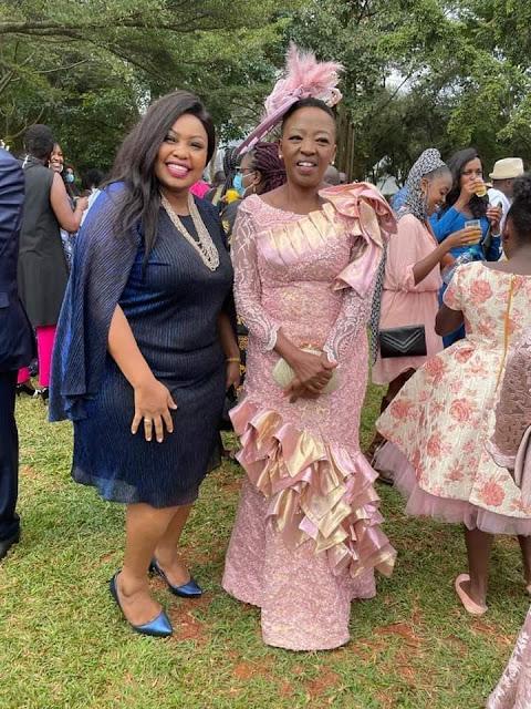 Senator Millicent Omanga with DP Ruto's wife Rachel photo