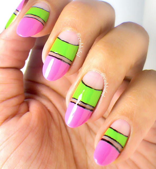 Watermelon Abstract and Negative Space Nails