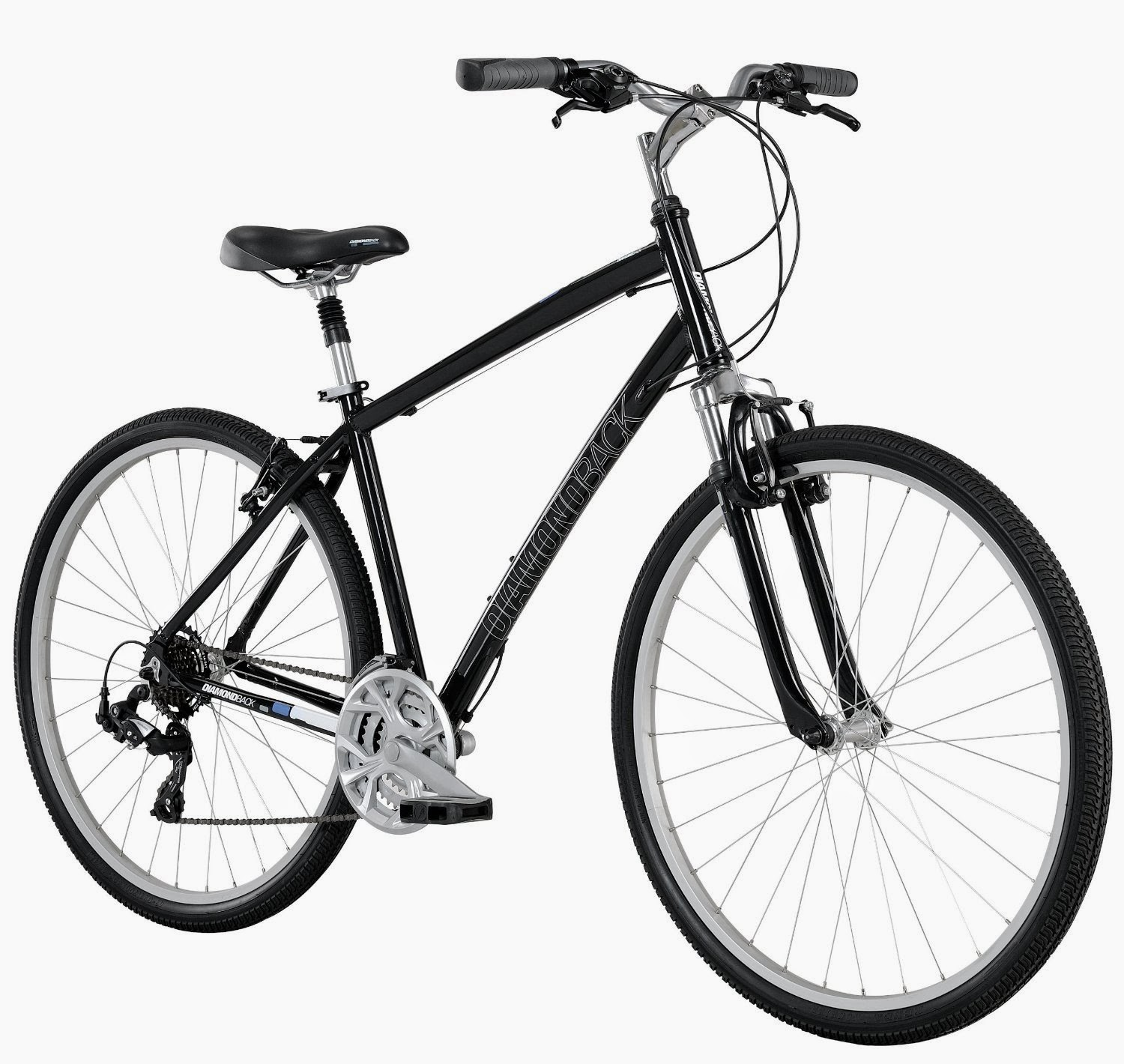Diamondback Bicycles 2014 Edgewood Men's Sport Hybrid Bike, review, relaxed upright feel of a comfort bike combined with efficiency of a road bike with 700c wheels