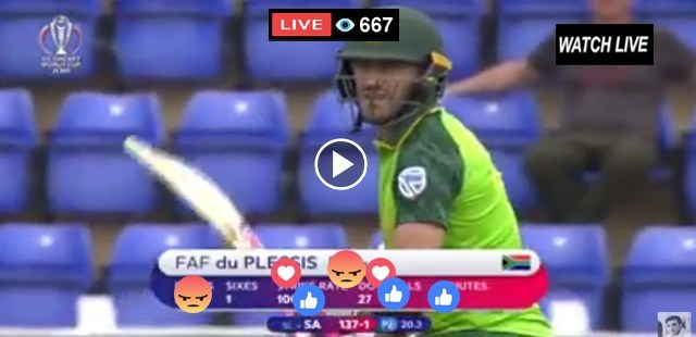 Today Live Match New Zealand vs South Africa 25th ODI ICC World Cup 2019