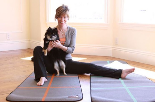 yoga pets combo dog yogi mat workout classes