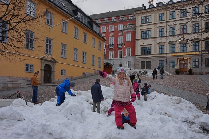 Tukholmassa lasten kanssa talvella