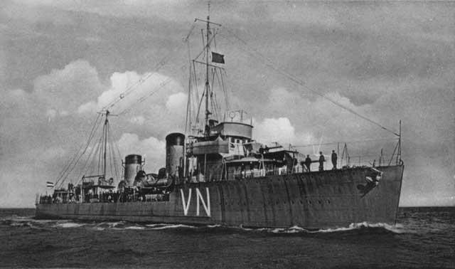 Dutch destroyer Van Nes, sunk on 17 February 1942 worldwartwo.filminspector.com