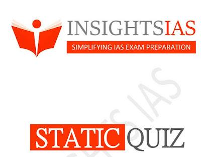 Insights IAS STATIC MCQ January 2020