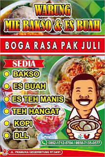 Download Banner Warung Bakso dan Es Buah Format CDR ...