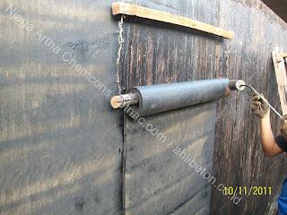 waterproofing membrane bakar pada dinding vertical