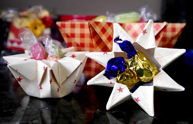 Treat Containers Party boxes by Katherine Sutton using BoBunny Kiss the Cook Collection