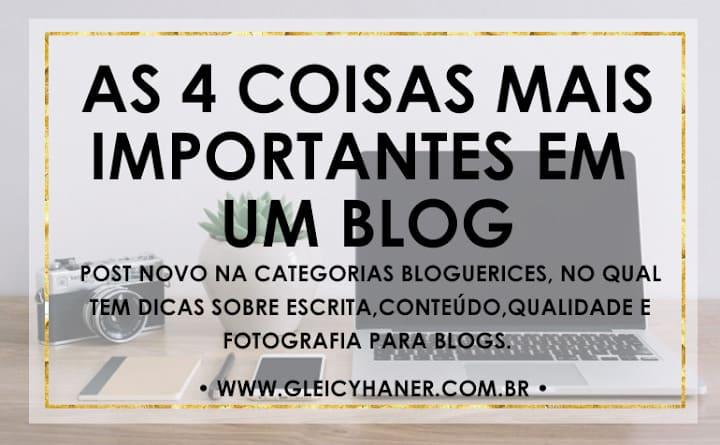 O que é importante em um blog? dicas