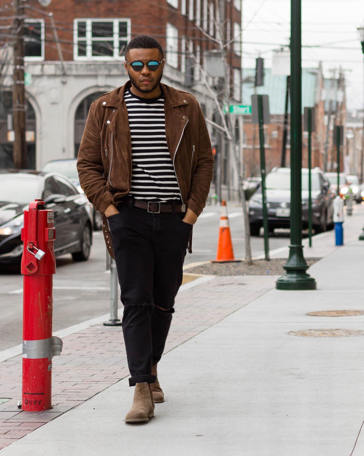 Suede On Stripes Lee S Lookbook
