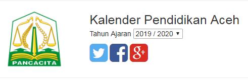 kalender pendidikan aceh 2019/2020