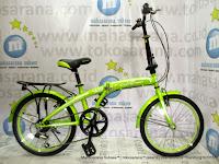 Sepeda Lipat Evergreen X8 6 Speed 20 Inci Yellow