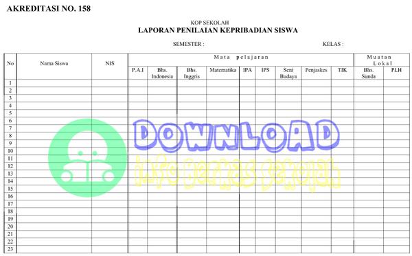 Dokumen Bukti Fisik Akreditasi Sekolah Standar Isi Nomor 158