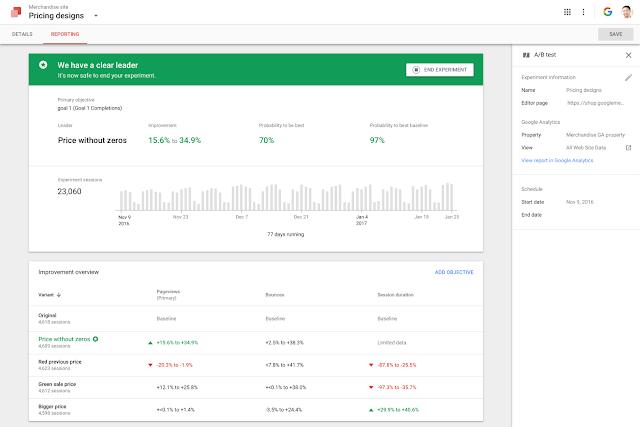 Easy to understand google optimiz data