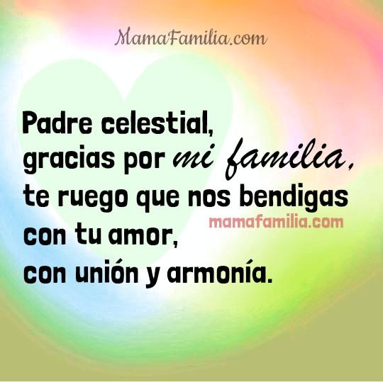 Oración cristiana corta por mi familia, que Dios bendiga a mis hijos, a todos mis familiares, oraciones por Mery Bracho.
