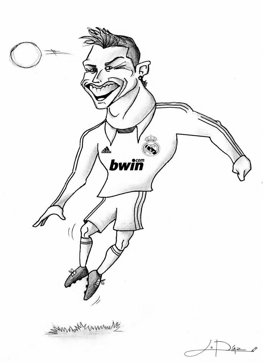 Прикольные рисунки футболистов карандашом