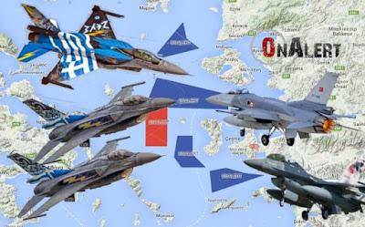 Αιγαίο: Σε ετοιμότητα πενταλέπτου οι Μονάδες αναχαίτισης για την τουρκική άσκηση