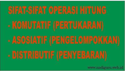 Sifat-sifat Operasi Hitung