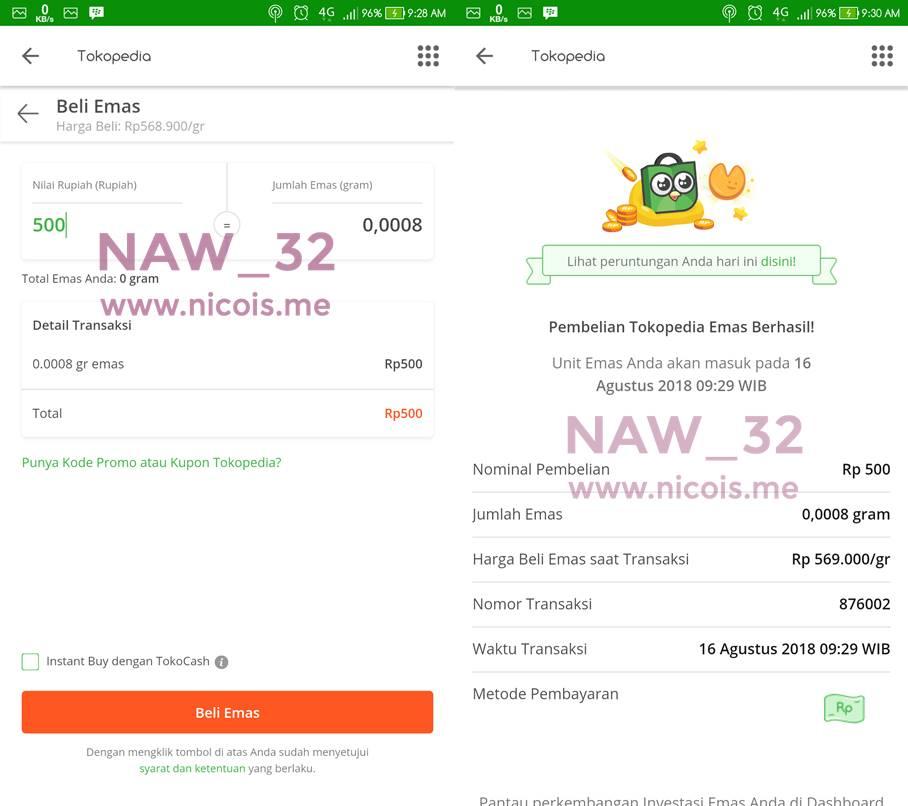 Review Investasi Emas Di Tokopedia Emas Naw32