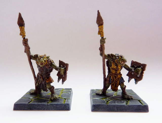 Goblin spears - Warlord of Galahir expansion for Mantic's Dungeon Saga.