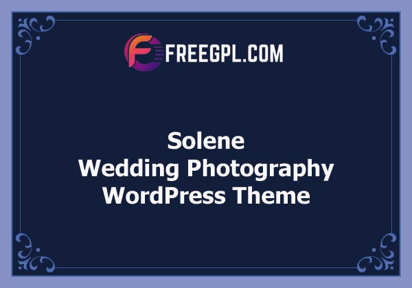 Solene - Wedding Photography Theme Nulled Download Free