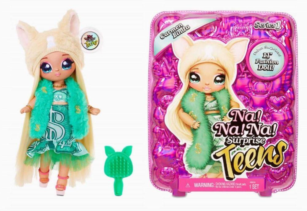 Мягкая кукла Carmen Linda в зеленом наряде НаНаНа Сюрприз подростки