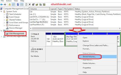Hướng dẫn chia ổ đia thành nhiều phân vùng trên windows 7 windows 8 windows  10
