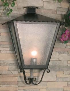 lampara de terraza rustica forja
